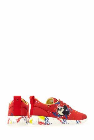 Кроссовки с принтом Moa. Цвет: красный