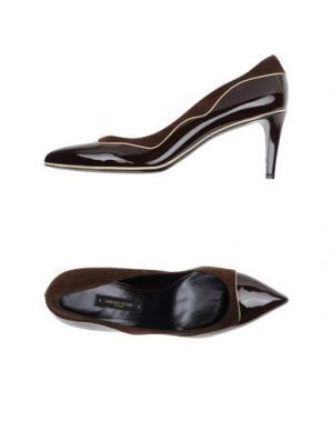 Туфли SANDRO VICARI. Цвет: темно-коричневый
