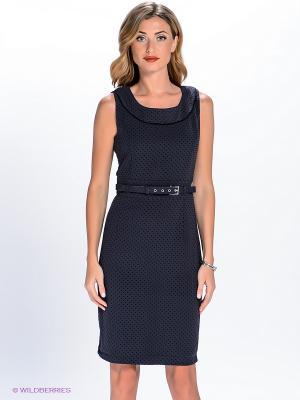 Платье QUIOSQUE. Цвет: темно-синий
