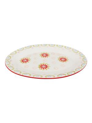 Блюдо Солнечный цветок Elan Gallery. Цвет: белый, красный