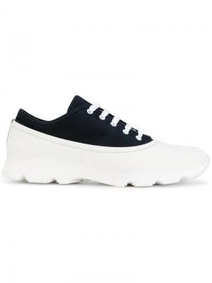 Кроссовки с панельным дизайном Marni. Цвет: белый