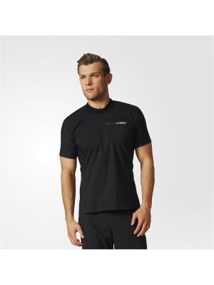 Футболка спортивная муж. AGRAV WD SHIRT Adidas. Цвет: черный