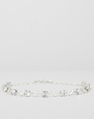 Krystal Фигурное ожерелье с кристаллами Swarovski от. Цвет: серебряный