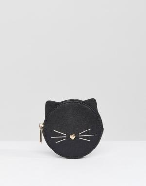 ASOS Кошелек с котом. Цвет: черный