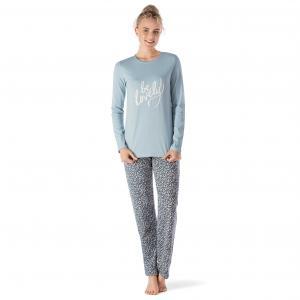Комплект: пижама, брюки и футболка SKINY. Цвет: рисунок/зеленый