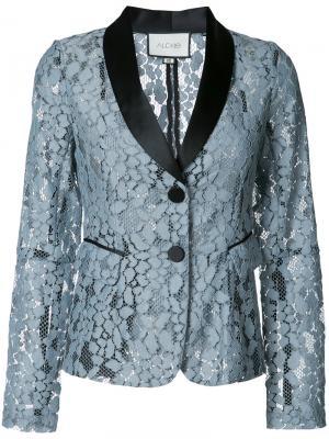 Пиджак с вышивкой Alexis. Цвет: синий