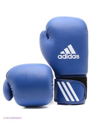 Перчатки боксерские AIBA Adidas. Цвет: синий