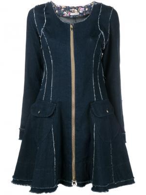 Расклешенное джинсовое платье Natasha Zinko. Цвет: синий