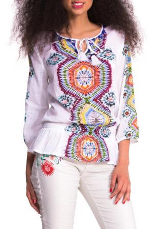 Блуза Desigual. Цвет: white, multicolor