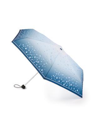 RainDrops (Капли дождя) Зонт женский механика Henry Backer. Цвет: голубой