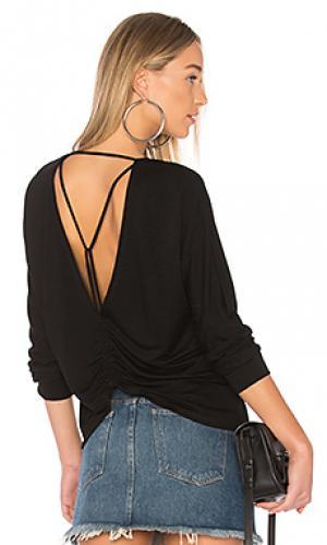 Пуловер с узкими бретелями Lanston. Цвет: черный