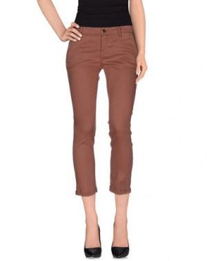 Повседневные брюки KAOS JEANS. Цвет: какао