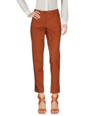Повседневные брюки GARAGE NOUVEAU. Цвет: коричневый