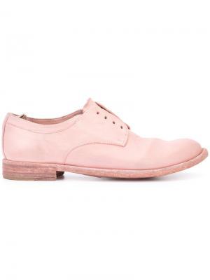 Дерби без шнурков Lexikon Officine Creative. Цвет: розовый и фиолетовый