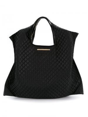 Стеганая сумка-тоут Xaa. Цвет: чёрный