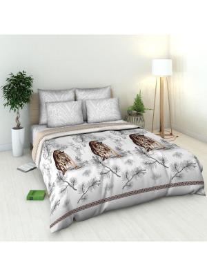 Комплект постельного белья Василиса. Цвет: коричневый, серый