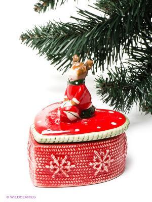 Шкатулка Mister Christmas. Цвет: красный, зеленый