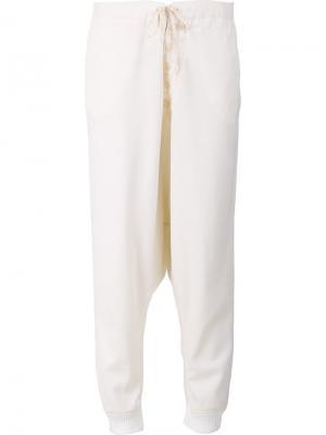 Спортивные брюки с завышенной талией Greg Lauren. Цвет: белый