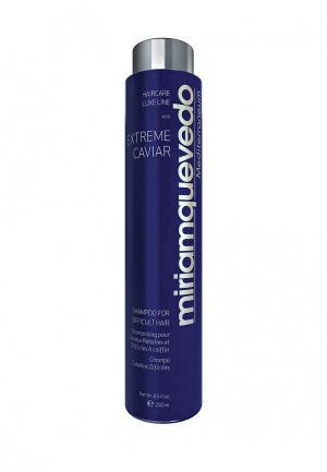 Шампунь для непослушных волос Miriam Quevedo. Цвет: синий