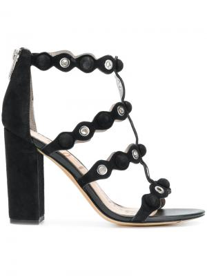 Strappy eyelets sandals Sam Edelman. Цвет: чёрный
