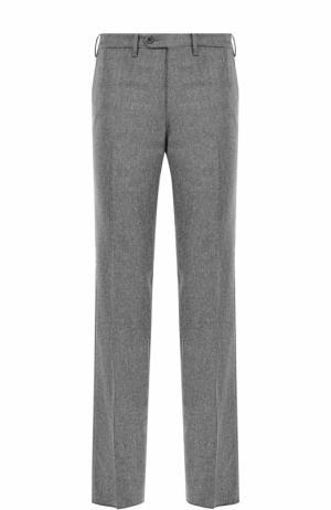 Шерстяные брюки прямого кроя Germano. Цвет: серый