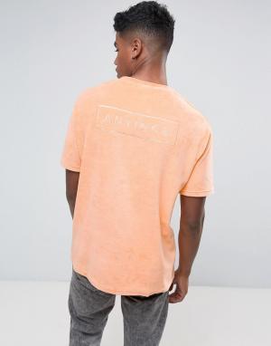 Antioch Свободная махровая футболка. Цвет: оранжевый