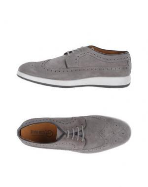 Обувь на шнурках BRUNO VERRI. Цвет: серый