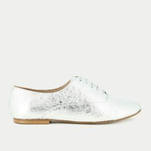 Ботинки-дерби на шнуровке из золотистой кожи JONAK. Цвет: золотистый,серебристый