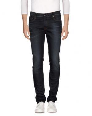 Джинсовые брюки HTC. Цвет: темно-синий