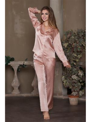 Пижама Mia-Mia. Цвет: бледно-розовый
