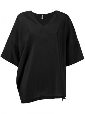 Блузка мешковатого кроя 08Sircus. Цвет: чёрный