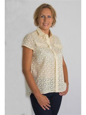 Блузка Brava Catalan. Цвет: бежевый