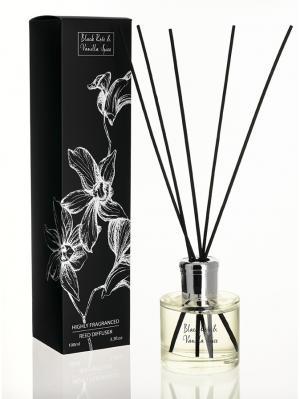 Тросниковый диффузор Черная роза и ваниль 100 мл. Stoneglow.. Цвет: прозрачный