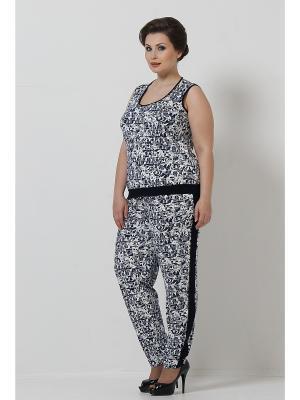 Комплект одежды Lina. Цвет: белый, синий