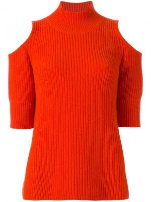 Джемпер с открытыми плечами Zoe Jordan. Цвет: жёлтый и оранжевый