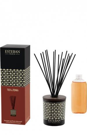 Деко букет с ароматом Тек и тонка Esteban. Цвет: бесцветный