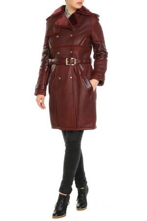 Дубленка Versace Collection. Цвет: красный