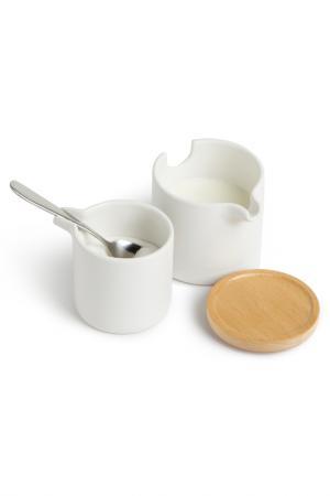 Набор для сахара и сливок UMBRA. Цвет: белый