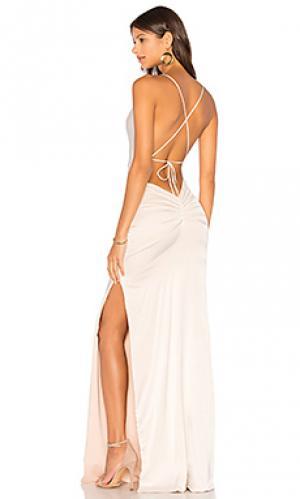Шелковое вечернее платье d dupey Gemeli Power. Цвет: ivory