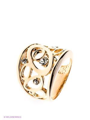 Кольцо Happy Garnets. Цвет: золотистый