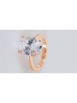 Кольцо хрусталь овал Lotus Jewelry. Цвет: белый