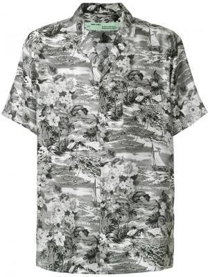 Рубашка с короткими рукавами Off-White. Цвет: серый
