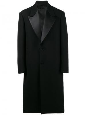 Классическое пальто с заостренными лацканами Raf Simons. Цвет: чёрный