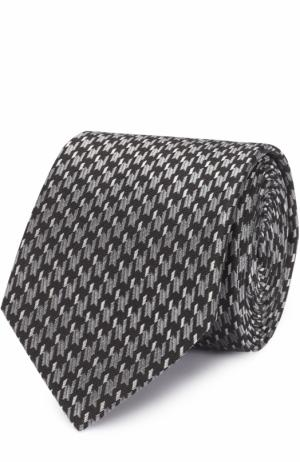 Шелковый галстук с узором Lanvin. Цвет: черный