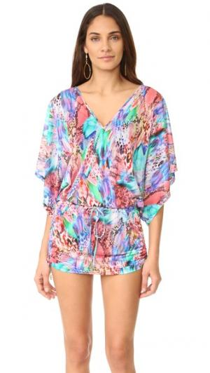 Платье с вырезом великолепный хаоса Cabana цветным v-образным Luli Fama. Цвет: мульти