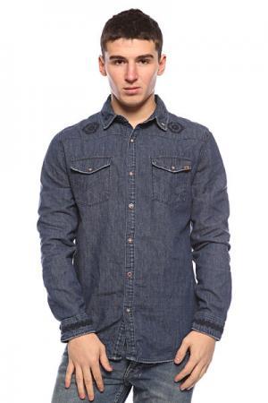 Рубашка  Bayou-Born Diy Oldy Beaten Blue Insight. Цвет: синий