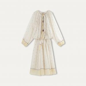 Платье длинное OURIA MES DEMOISELLES. Цвет: слоновая кость