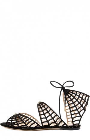 Замшевые сандалии Miss Muffet Charlotte Olympia. Цвет: черный