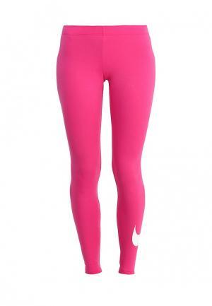 Леггинсы Nike. Цвет: розовый