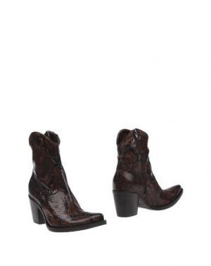 Полусапоги и высокие ботинки DONNA PIÙ. Цвет: какао